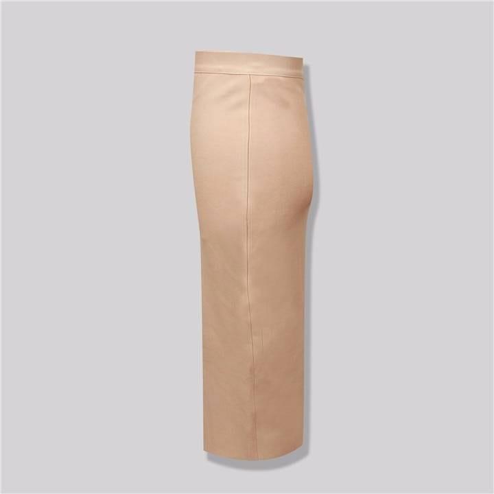 Neon green pink orange yellow pink knee length bandage skirt