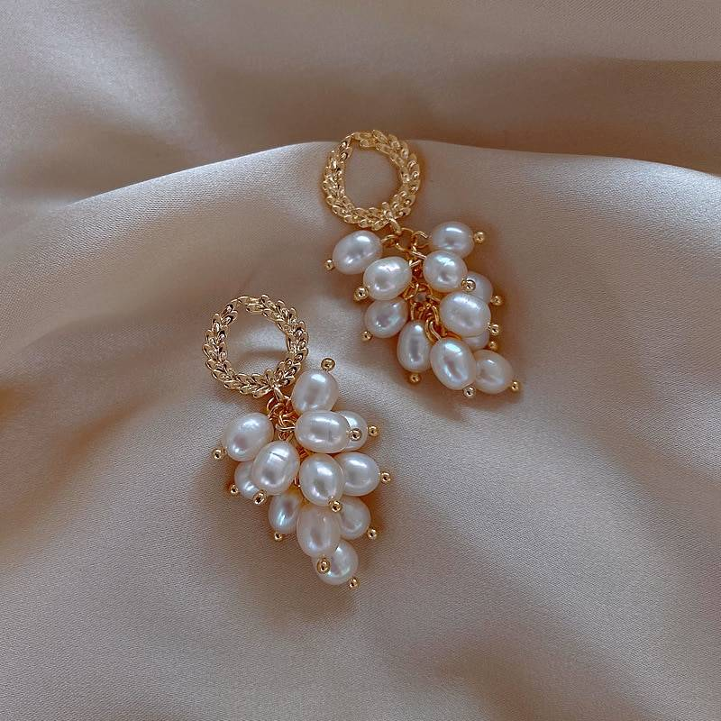Multi Layers Strands Pearl Drop Earrings For Women 2020 New Jewelry White Elegant Statement Earings