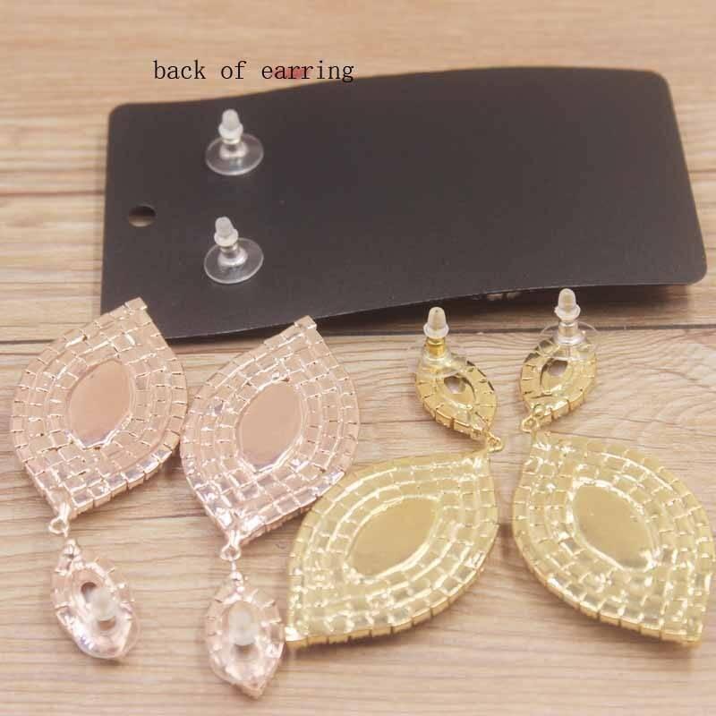 Delicate rhinestone crystal earrings