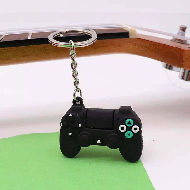 Creative Video Game Handle Keychain Simulation Joystick Model Key Chain Ring Pendant Men Women Couple Key Holder Trinket Gift