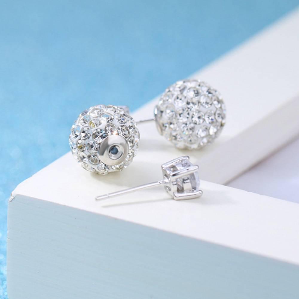 Silver zirconia vintage stud earrings