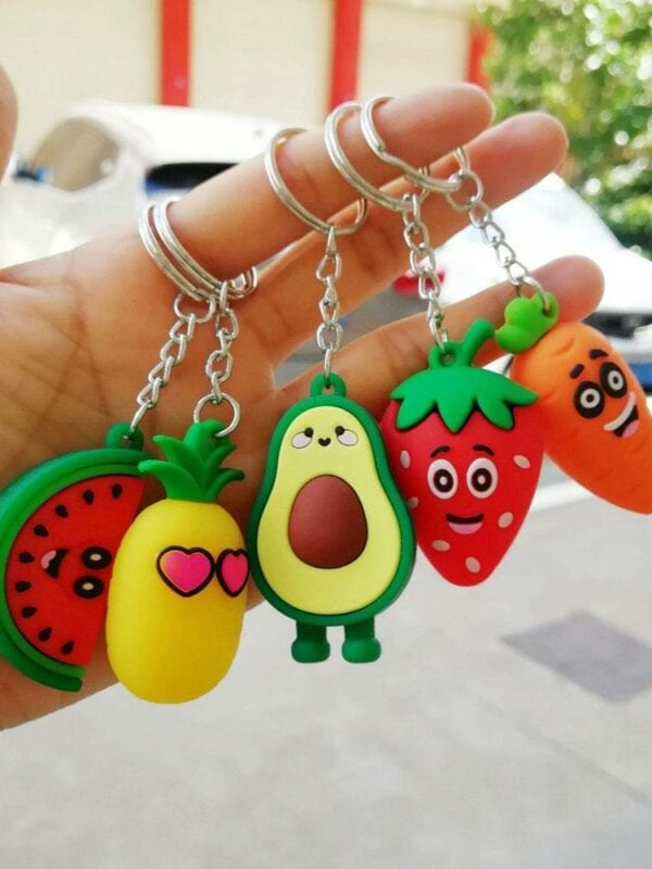 3d avocado keychain bag