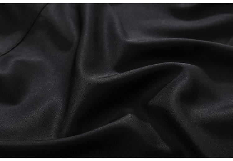 Black unique long tape metal holes loose jacket