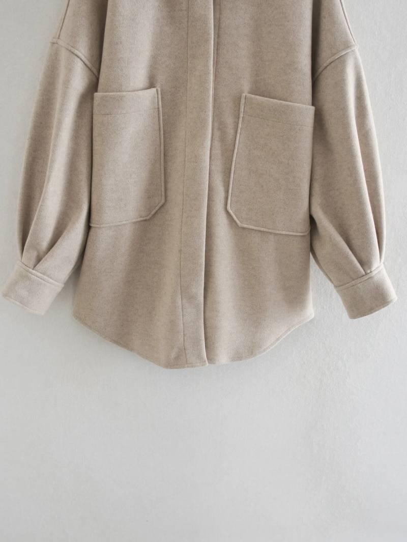 Elegant vintage camel loose jacket