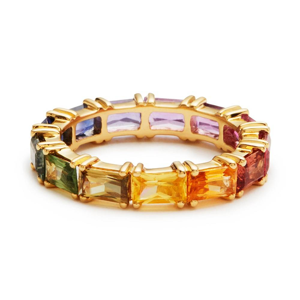5 colors shiny cubic zircon women ring