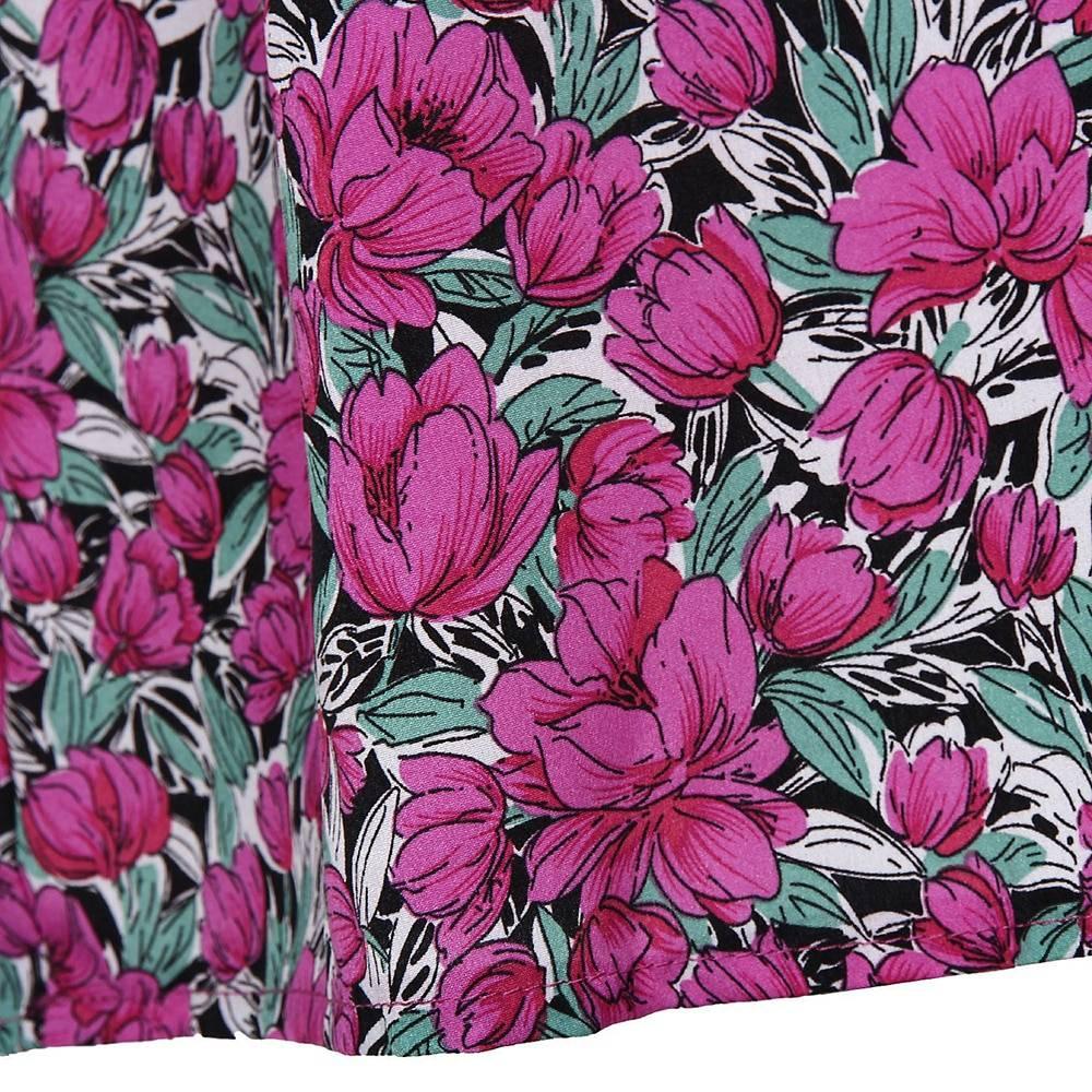2021 New Fashion Floral Dress Spring Even Vintage Pullove Chiffon High Waist Sashes Lantern Long Sleeve Midi Print Dresses Woman