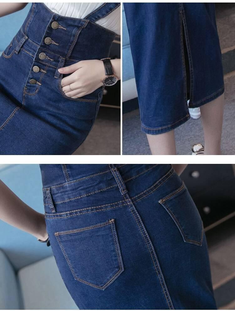 Denim Skirts Womens 2019 New Bodycon Saia Midi Plus Size S~3XL Jupe Femme Elastic Faldas Mujer Slim Ladies Jeans Pencil Skirt