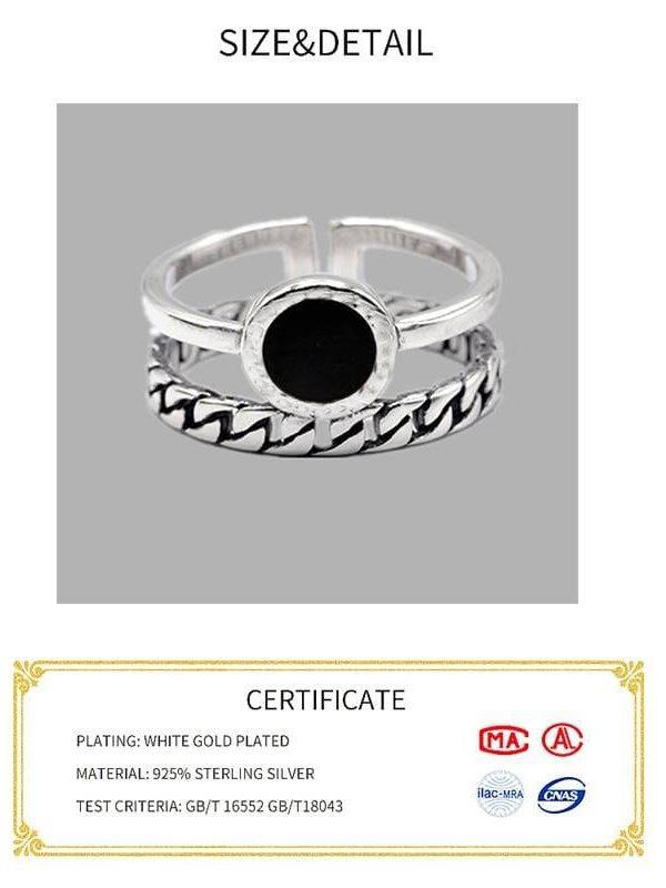 Sterling silver minimalist women rings
