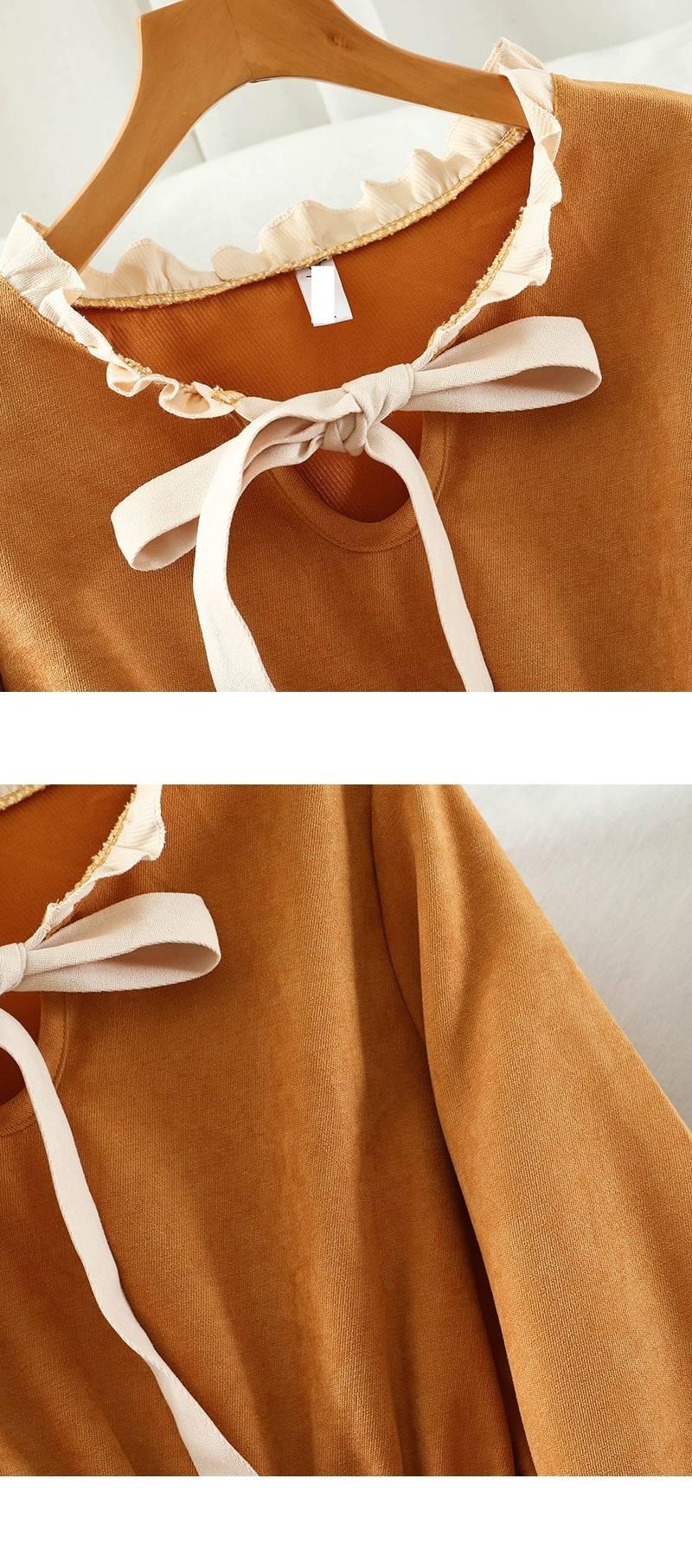 Vintage long sleeve ruffle dress