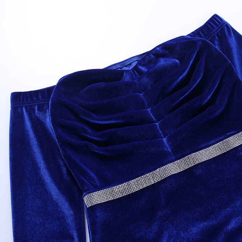 WannaThis Velvet Dress Women Long Sleeve Autumn Sexy Slim Bodycon Fashion Sashes Streetwear Casual Elegant Party Female Dress