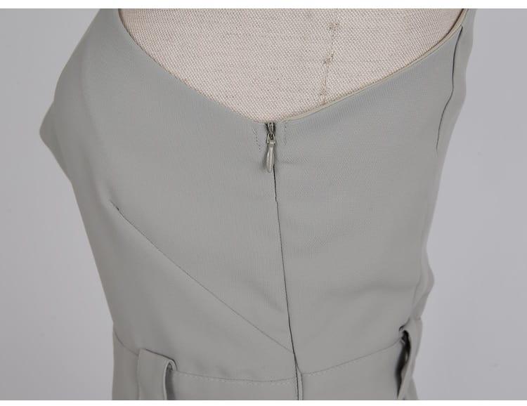 Spring Summer Women's Jumpsuit Casual Slim High-Waist Cross Halter Strapless Thin Wide-Leg Office Ladies Jumpsuit