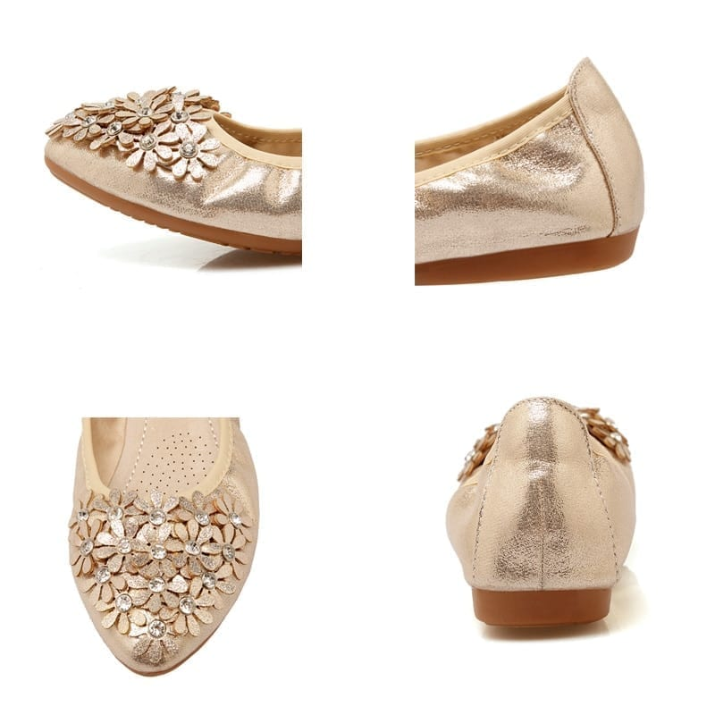 Plus Size 34-45 Women Shoes 2021 New Loafers Slip on Flat Shoes Woman Foldable Ballet Flats Ladies Shoes zapatos mujer WSH3502