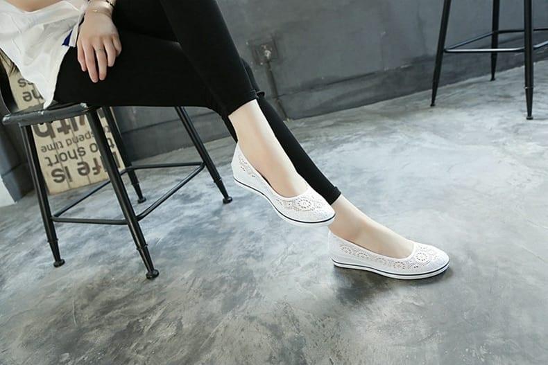 Cuculus 2021 New Canvas nurse shoes Solid Women Platform Casual Shoes Women Flat Bottom feminino Women shoes 437