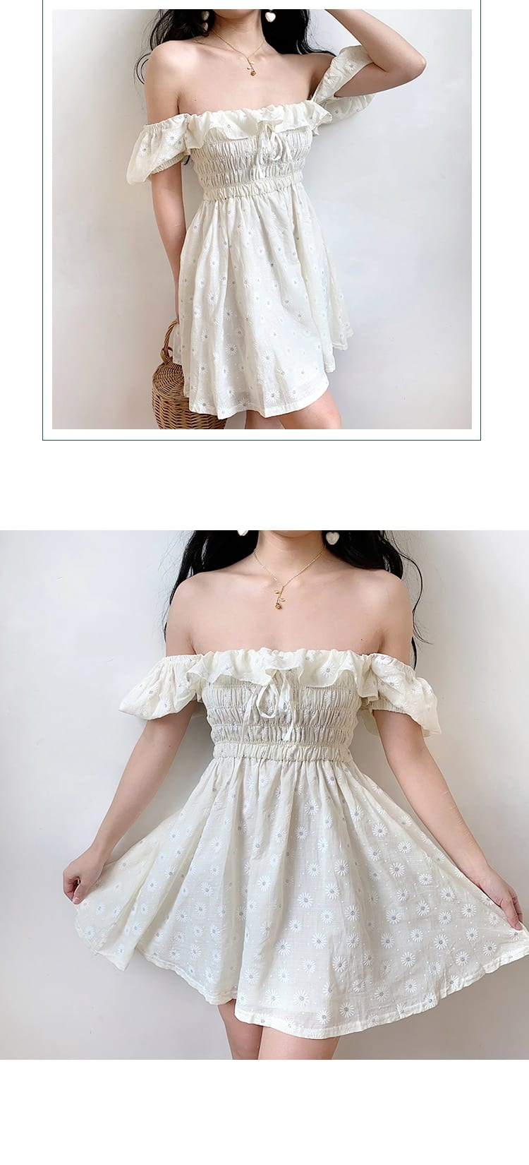 Sexy Ruffles Women Puffed Sleeves Dress Square Neck Bow Slim Waist Floral Dresses New 2020 Summer Girls Princess Pleated Dresses