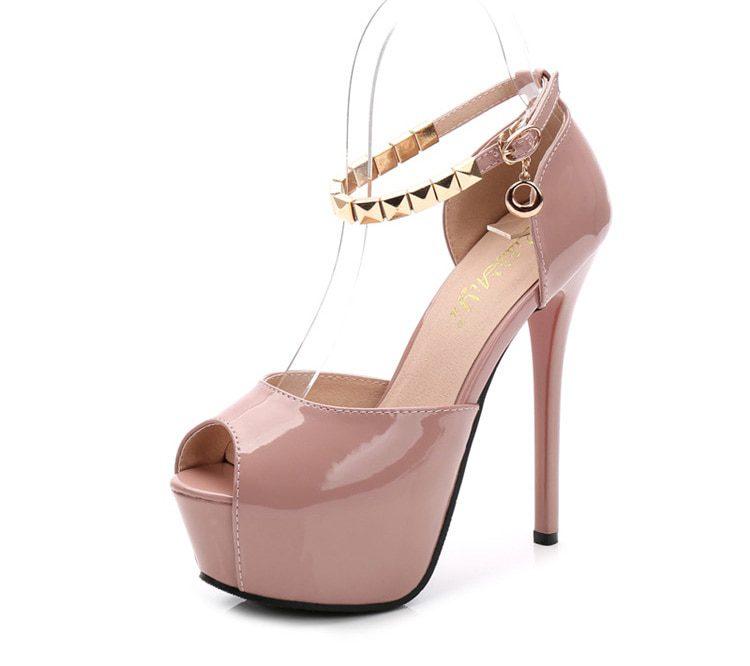 Peep Toe Platform High heels Pumps Women Shoes 2020 women heels sandals wedding shoes Sandalia Feminina 14 CM heels