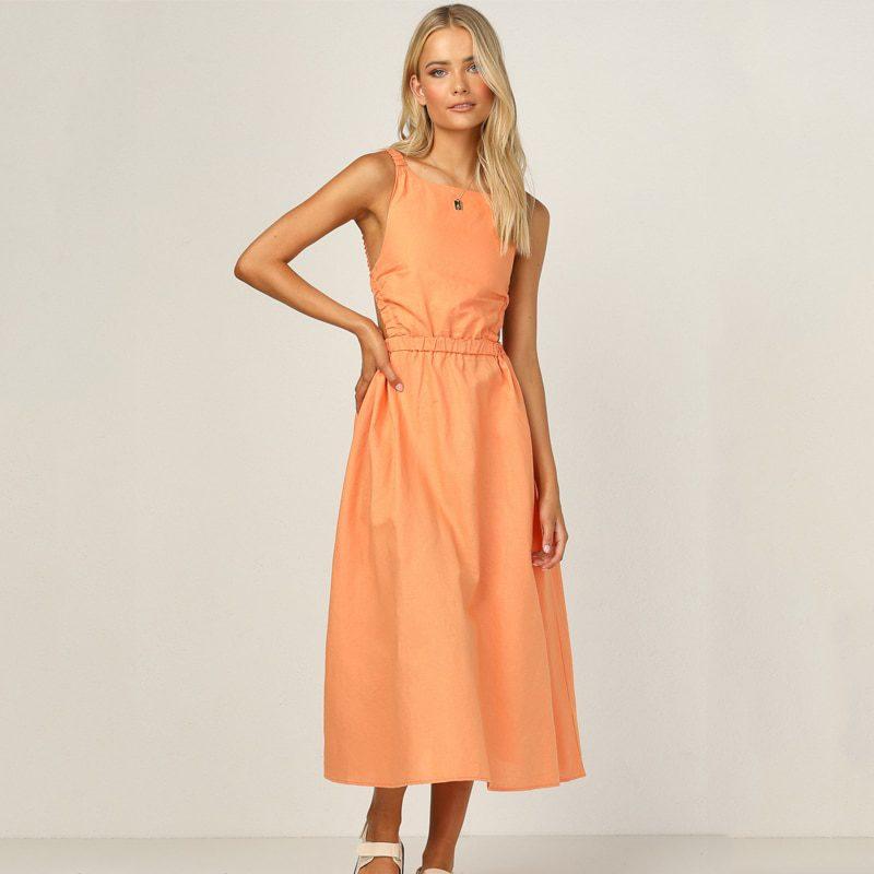Ardm Sexy Spaghetti Strap Summer Dress 2021 New Slip Black Backless Maxi Dress Vintage Elegant Woman Party Dress Princess Dress