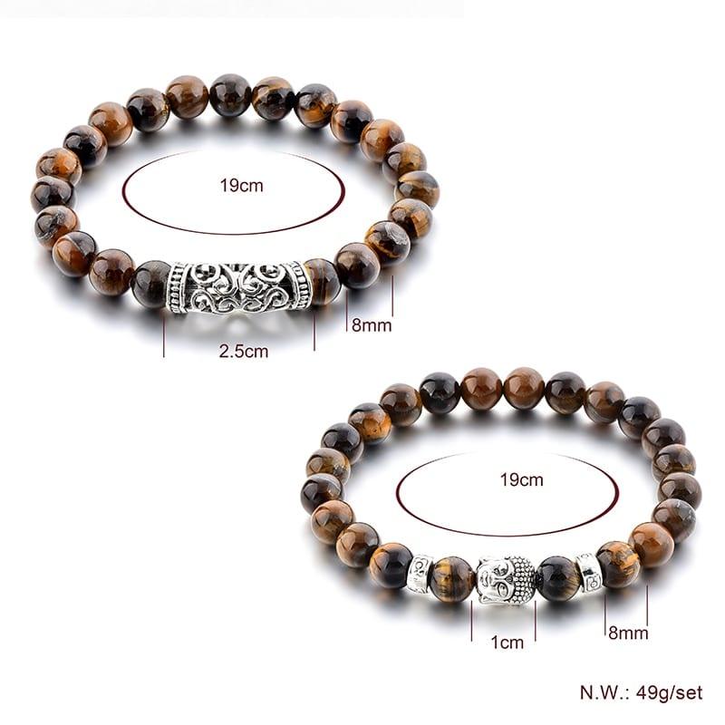 YADA Gifts 8mm Buddha Head Bracelets&Bangles For Men Tiger Eyes Bracelet Friendship Handmade Casual Jewelry Bracelet BT200106