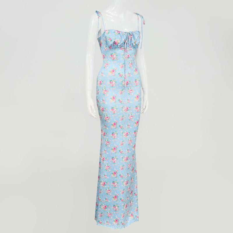Flowery Maxi Dress With Floral Print