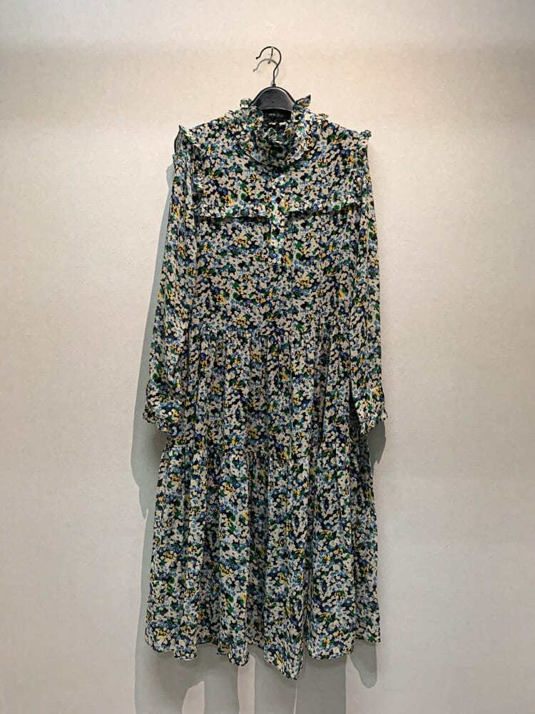 Gaoding cel's new French back garden flowery dress in spring and summer of 2021